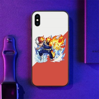 Anime My Hero Academia Todoroki LED Phone Case For iPhone