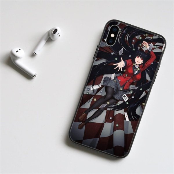 Anime Kakegurui Yumeko LED Phone Case For iPhone