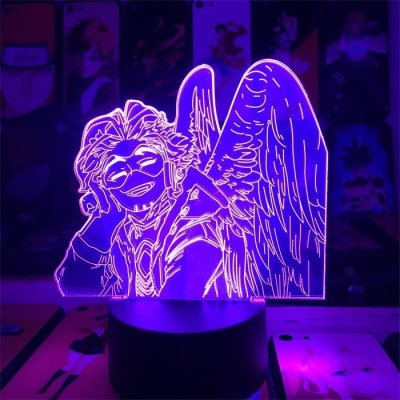 Anime My Hero Academia Hawks 16 Colors Table Lamp