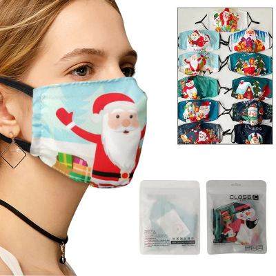 Christmas Washable and Reusable Cotton Face Mask (Pack of 5)
