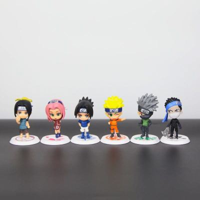 6pcs/set Naruto Sakura Kakashi Sasuke Action Figure