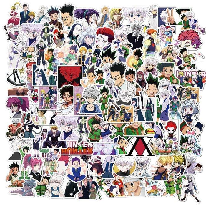 100PCS Hunter x Hunter Killua Gon Hisoka Stickers