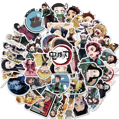 50PCS Demon Slayer Nezuko Tanjiro Zenitsu Stickers