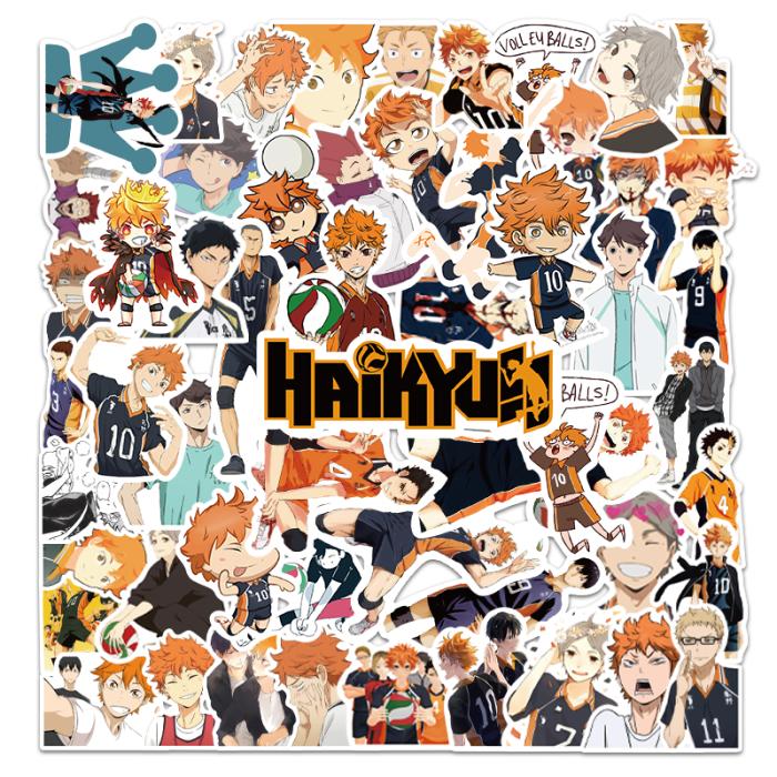 50PCS Haikyuu!! Hinata Kageyama Kenma Oikawa Stickers