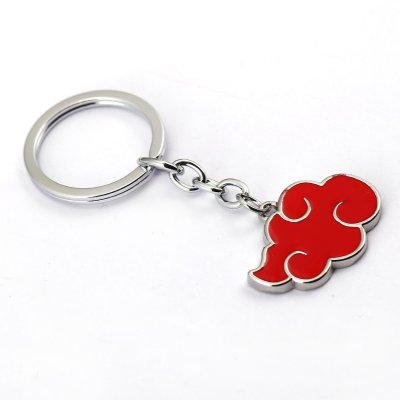 Anime Naruto Akatsuki Red Cloud Keychain