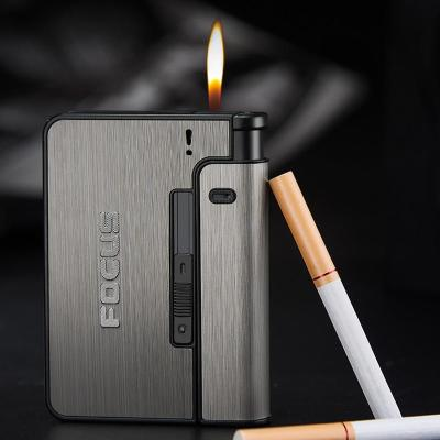 Metal Cigarette Boxes Can install lighter