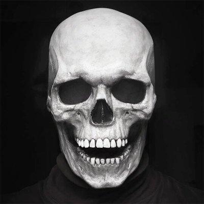 Halloween Mask Movable Jaw Full Head Skull Mask