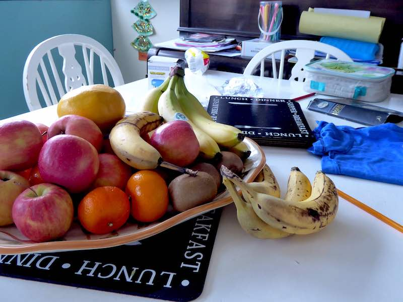 fruit on family table