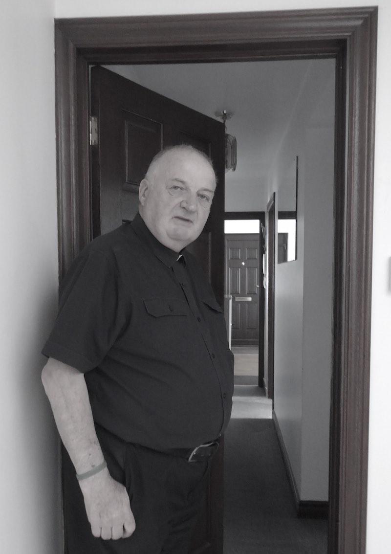 priest, doorway, parochial house