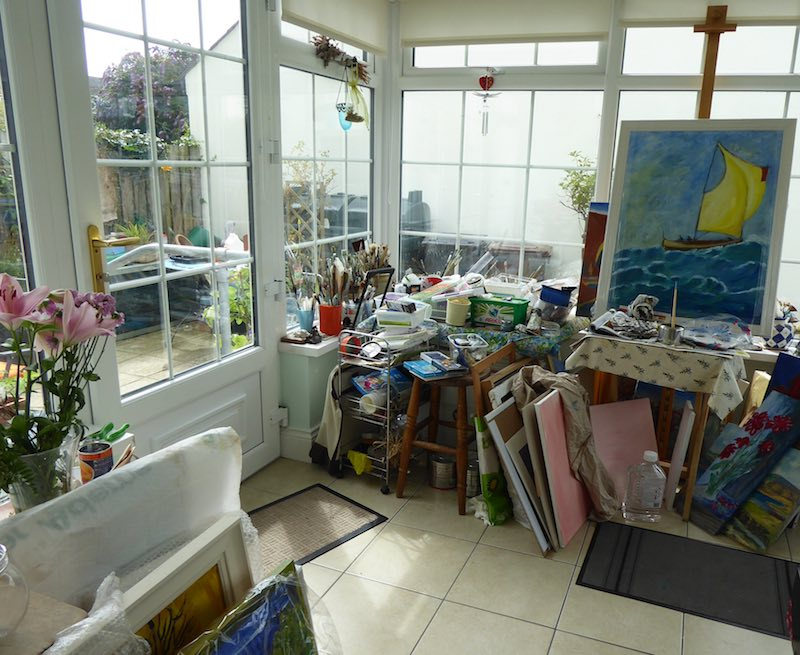 paintings and studio