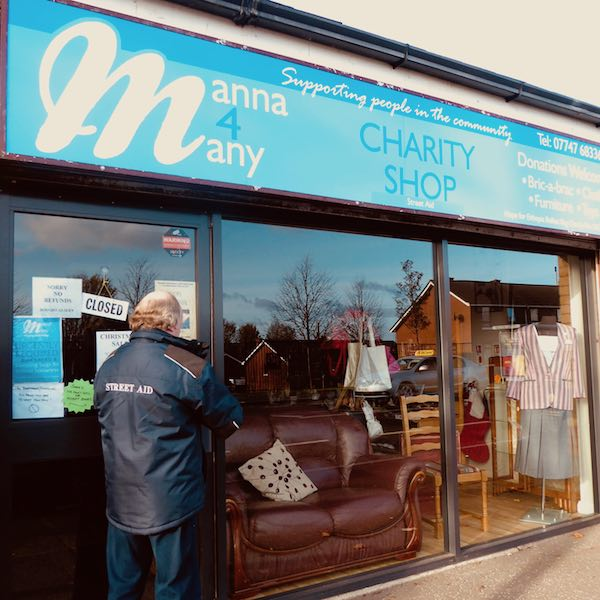 charity shop frontage