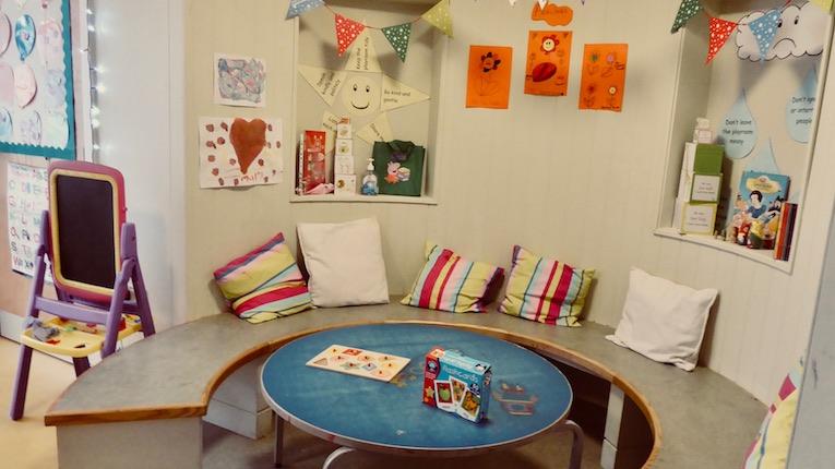 children's seating area