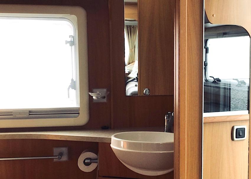 caravan bathroom and window