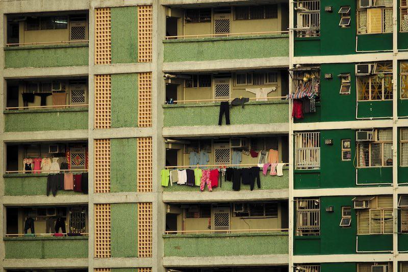 green balconies housing block