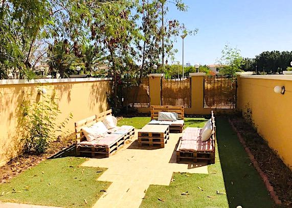 garden with furniture in Dubai