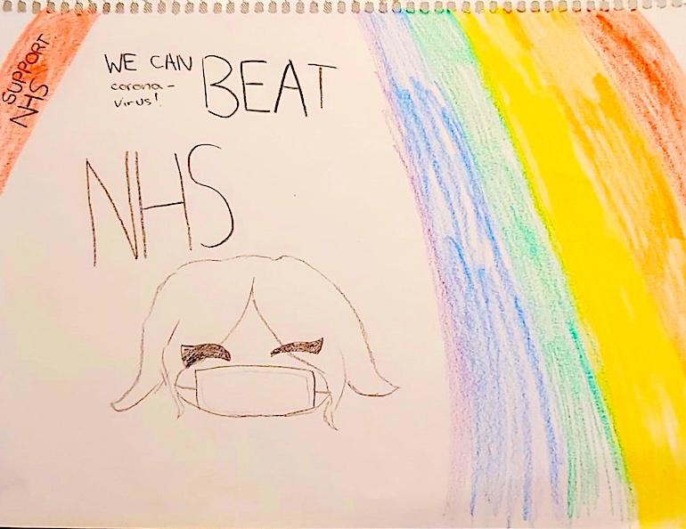 NHS rainbow drawing