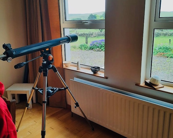 telescope looking at view