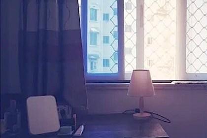 dressing table near window