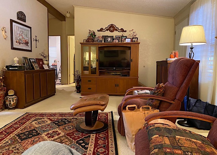 Texan home with brown furniture