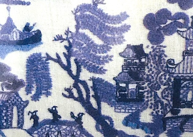 mum's willow pattern embroidery