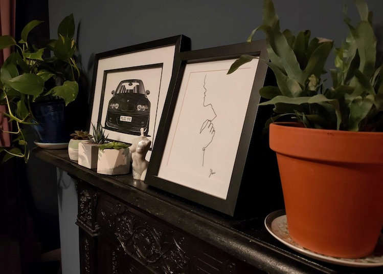 pictures on doctor's mantlepiece