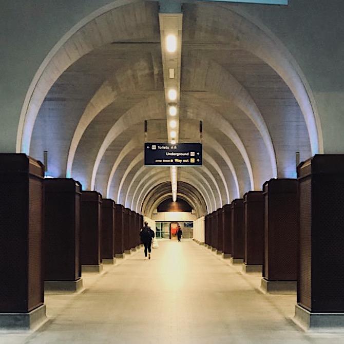 Empty London station in lockdown