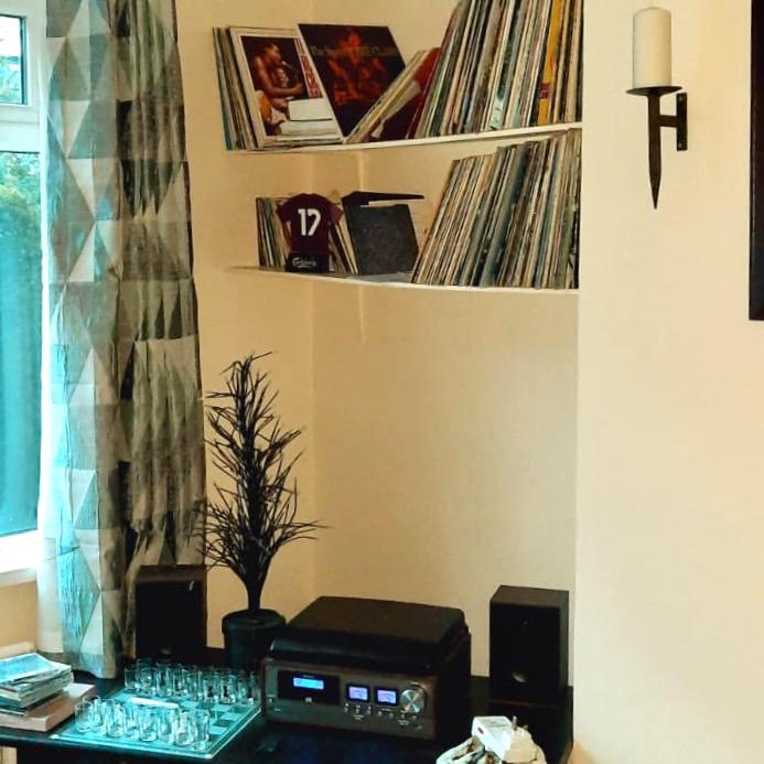 vinyl records  at home