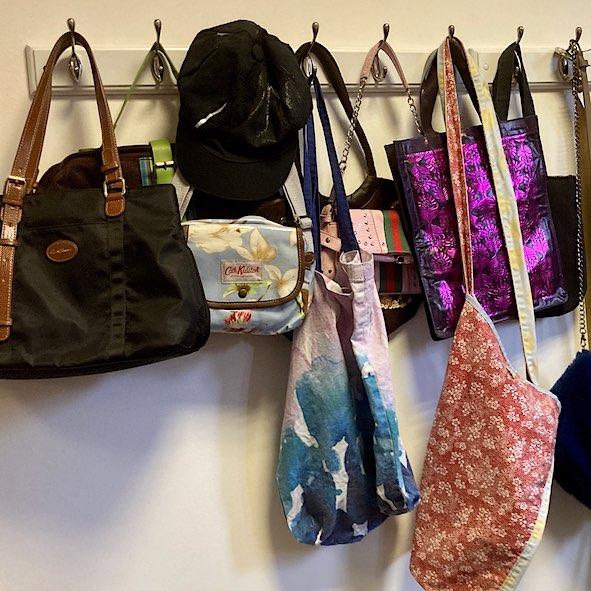 display of bags