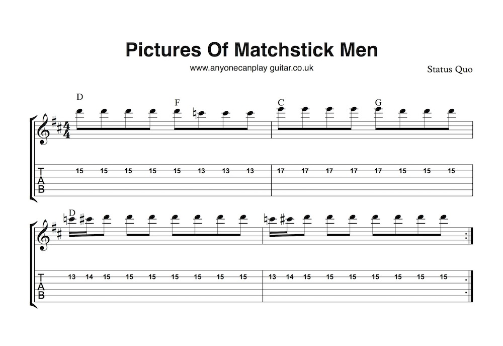 Pictures Of Matchstick Men Anyone Can Play Guitar