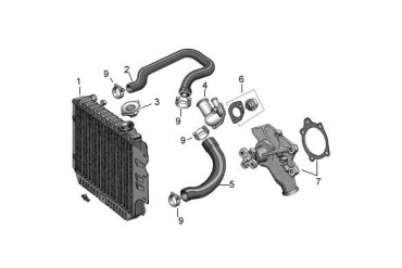 Vista-Pro Replacement 1 Core Radiator for 4.7L V8 Engine