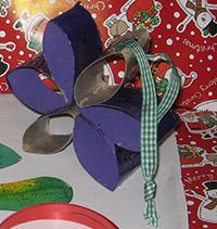 Étoile de Noël en rouleaux de papier