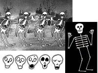 La Danse des squelettes en cotons-tiges