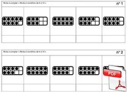 Boites à nombres - planches de boites à compter