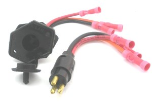 TROLLING MOTOR PLUG RECEPTACLE 8 Gauge 3 Wire 24V 6357   eBay
