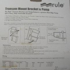 Rule Bilge Pump Wiring Diagram 1963 Chevy Truck Ignition 24tb 360 Gph Transom Mount Livewell 9927