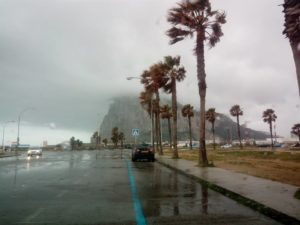 Gibraltar in the Rain