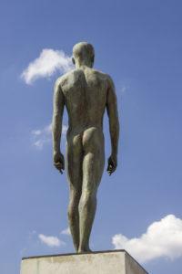 A naked man!