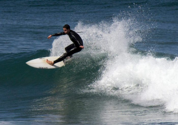 Surfing at Mundaka