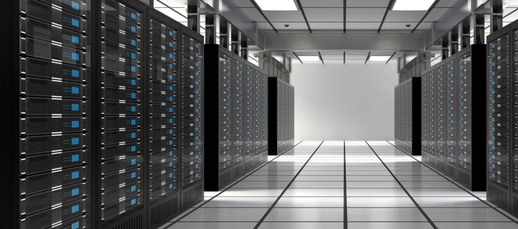 A web hosting server room