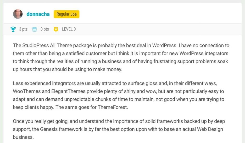 Studiopress Genesis WordPress Review