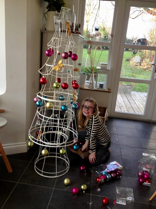 upcycled christmas tree