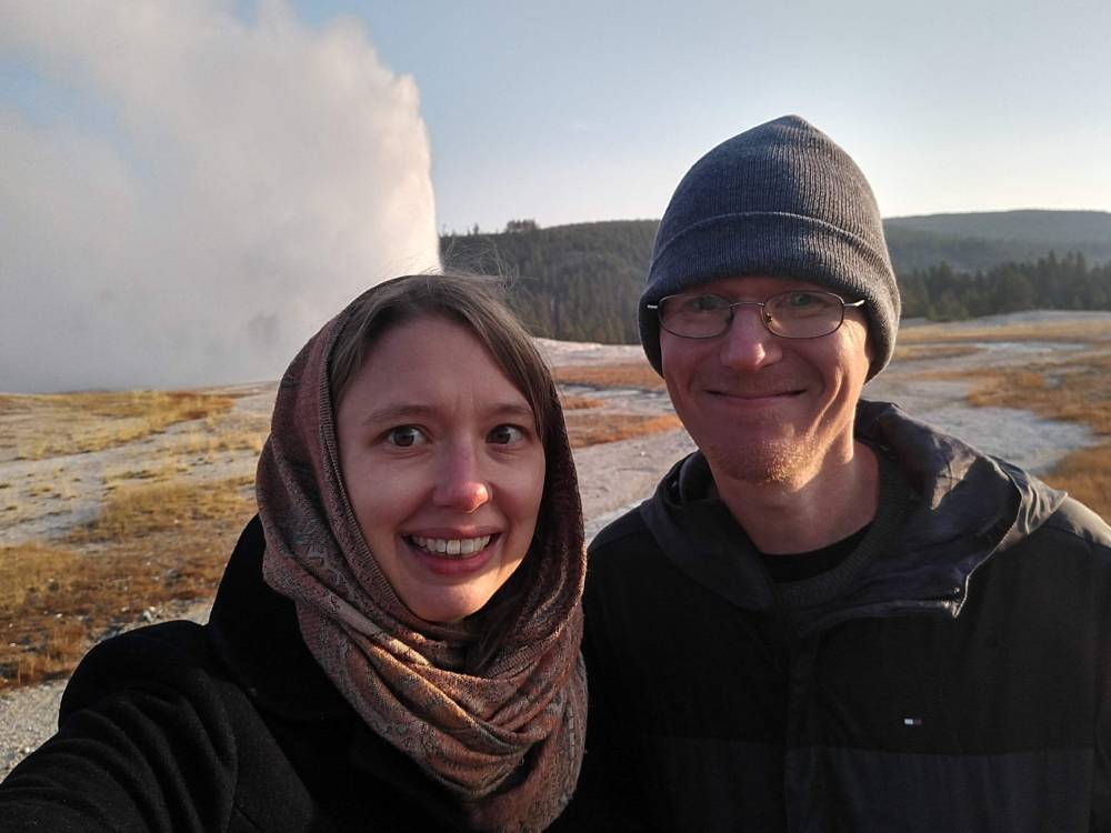 Old Faithful selfie