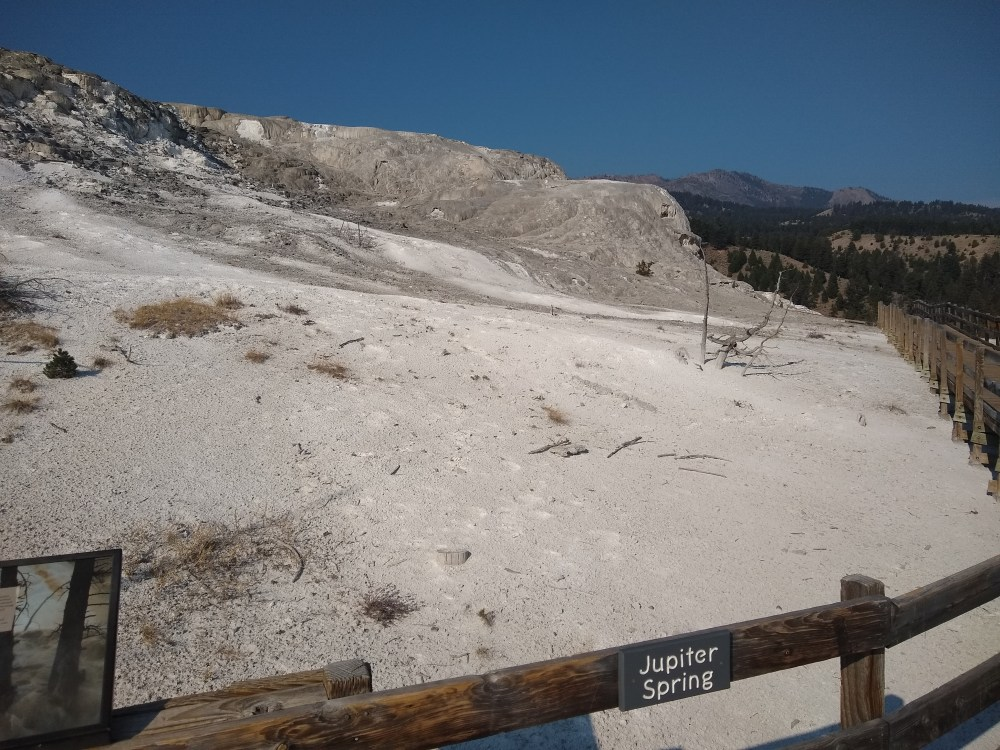 Jupiter Spring at Mammoth Hot Springs