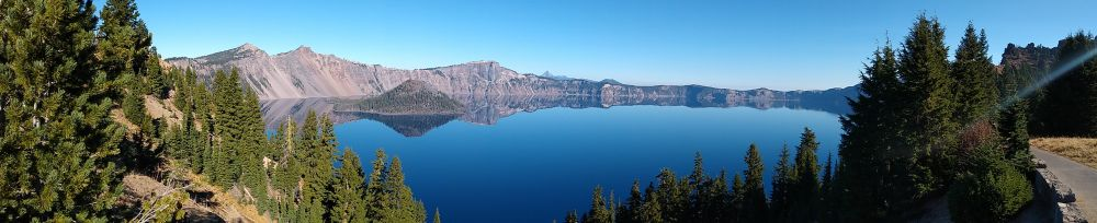 View of Crater Lake from the peak