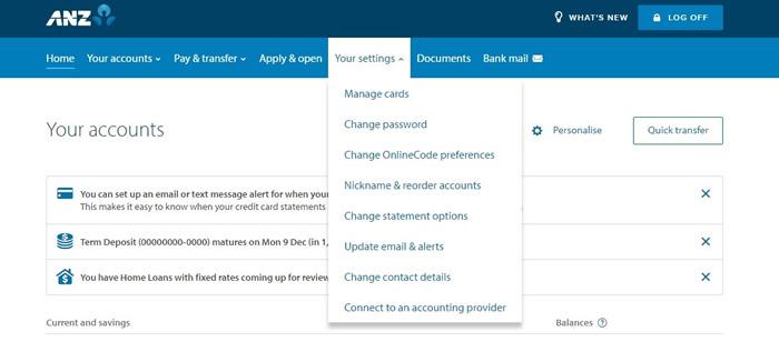 Set Change Pin Anz Internet Banking