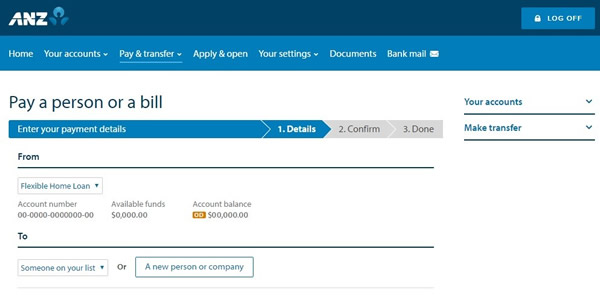 Make A Payment Internet Banking
