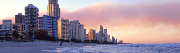 Surfers Paradise from the beach