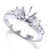 Anzor Jewelry - 14k White Gold Diamond Engagement Ring ...