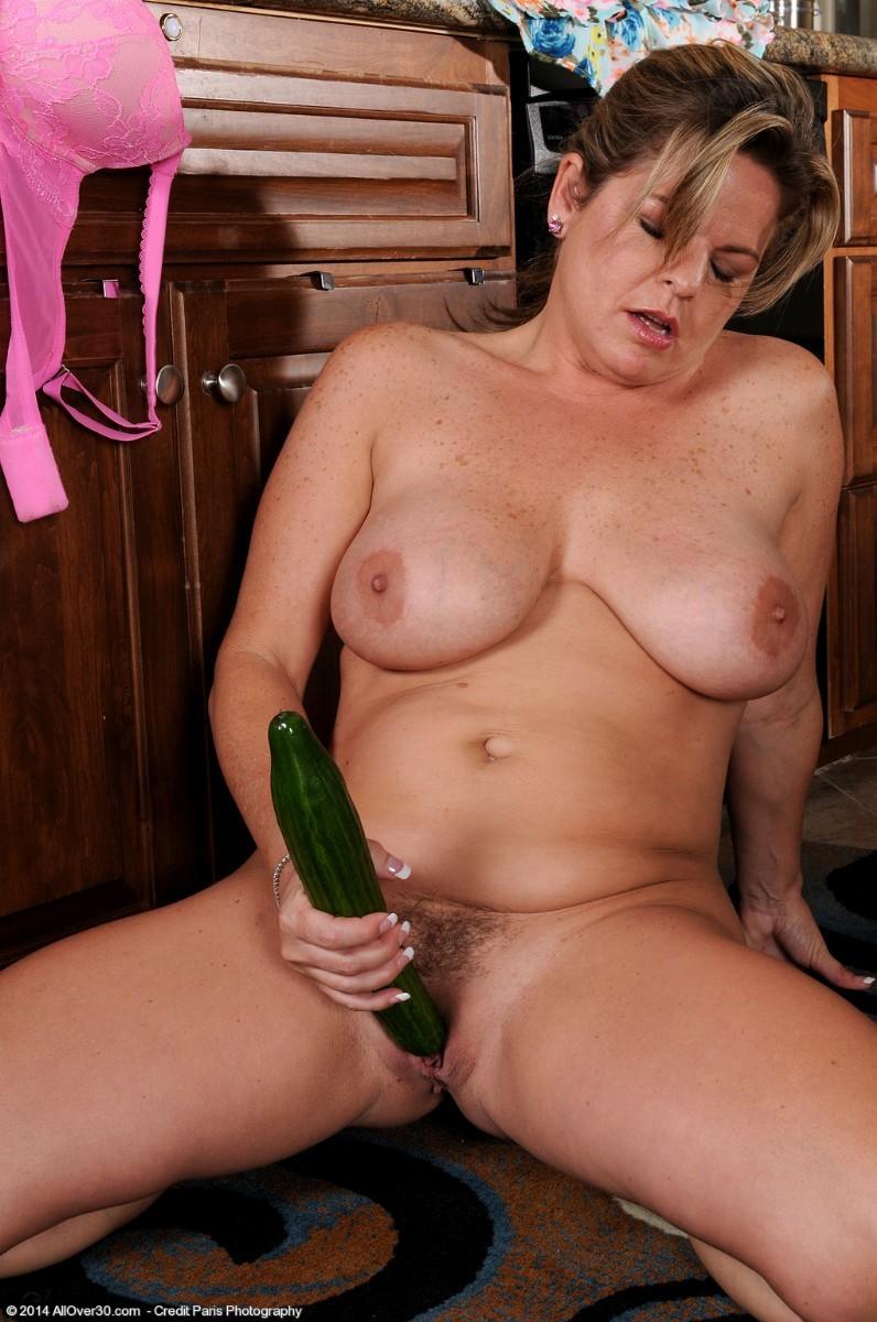Marie Fucks Veggies at AllOver30 Free