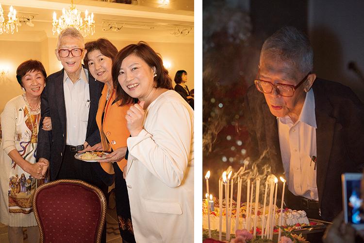 丹羽先生の誕生日会の様子
